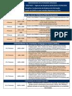 Cronograma Semanal a Fase i Ead Fundamentos Si