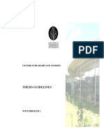 UTP Thesis Guidelines