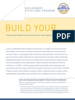 COMMUNITY DEVELOPMENT FINANCIAL INSTITUTIONS PROGRAM - Department of Treasury