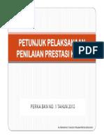 Petunjuk Perka Bkn No 1 Tahun 2013