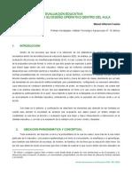 EVALUACIÓN EDUCATIVA ELEMENTOS PARA SU DISEÑO OPERATIVO DENTRO DEL AULA