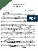 Dutilleux Oboe Sonata