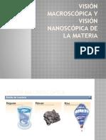 Visión macroscópica y visión nanoscópica de la materia