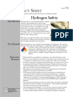 EH&S Fact Sheet on Hydrogen Cylinder Safety