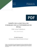Diseño de La Escuela de Postgrado Analisis Maestrias