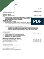 resume feb 18