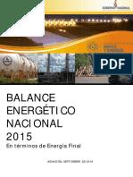 Balance Energetico Nacional 2015 Paraguay