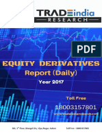 Equity Derivative Prediction Report by TradeIndia Research 29-3-18