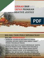 Penggunaan Program Restorative Justice