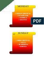 Duty Roster 5 Al-razi