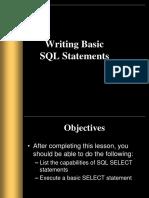 Ch 1 Basic SQL Statement