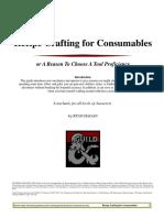 Recipe Crafting for Consumables v12