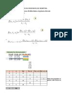 Diferenciaa Cuadraticas Divididas de Newton