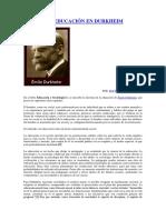 La Idea de Educación en Durkheim