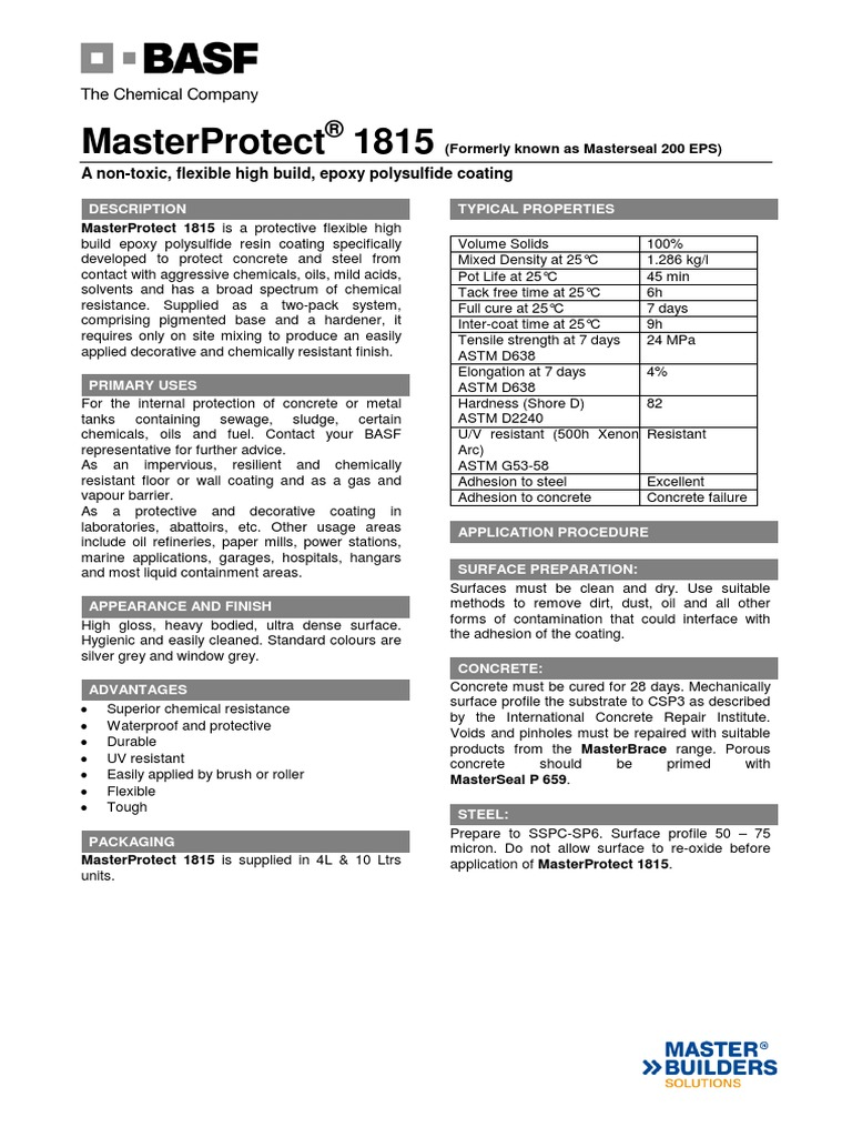 MasterProtect 1815-300914 | Epoxy | Sodium Chloride