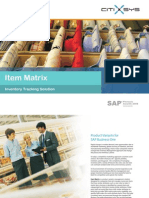 Item Matrix for SAP Business One