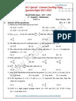 Padasalai Net 10th Maths Centum Coaching Team Question Paper Em1