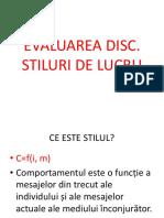 Evaluarea Disc