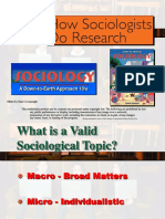 4. Ch # 5, How Sociologist Do Research