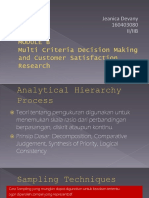 multi criteria decision making and customer satisfaction research