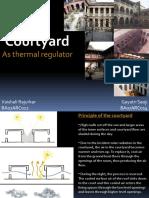Courtyard as Thermal Regulator