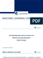 Machine Learning Using Spark Online Training