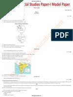 2018 Social Studies Paper 1 Model Paper 1 (EM)