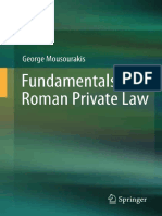 MOUSOURASKIS, G. Fundamentals of Roman Private Law (2012)