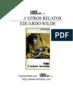 Wilde, Eduardo - Tini y otros relatos.doc