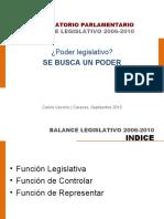 Balance Legislativo 2006-2010