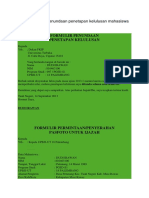 Contoh Formulir Penundaan Penetapan Kelulusan Mahasiswa UT
