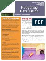 Hedgehog Care Guide