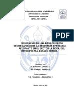 Trabajo Final de Grado Generacion de Una Base de Datos Geomecanicos de La Secuencia Cretacica Aflorante en El Sector La Roca Del Municipio Zea, Estado Merida