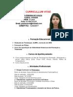 Curriculo Ana Paula Pereira de Souza - Fisioterapeuta