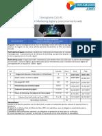 Cronograma MArketing Digital y Posicionamiento Web