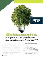 Eea Eficiencia Energetica Ganhos Complementares Sao Superiores Aos Principais
