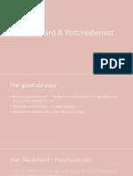 baudrillard   postmodernist
