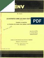 Nitrates Dans Les Eaux Souterraines