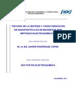 Estudio de La Síntesis y Caracterización de Nanopartículas de Magnetita Por Métodos Electroquímicos