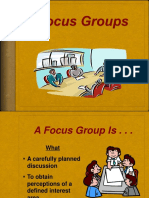 Holding Focus Groups