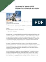 Las Normas Transicionales de La Prescripción Liberatoria en El Código Civil y Comercial de La