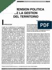 La Dimension Politica de La Gestion Del Territorio