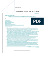 Deped School Calendar 2017-2018