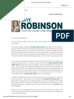 Councillor Jaye Robinson's Spring E-Newsletter
