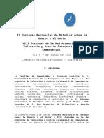 Convocatoria VIII Jornadas de Red Argentina de Valoración y Gestión Patrimonial de Cementerios