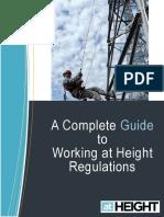 Guide Working Height Regulations