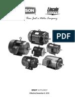 Electric Motor Leeson Catalog