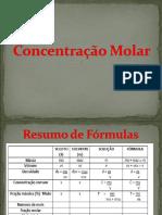 1.3 Concentração Molar