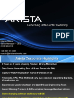 ARISTA Building Profitable Cloud Networks