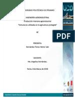 Estructuras Utilizadas en La Agricultura Protegida